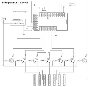 Schaltplan BLE-Platine